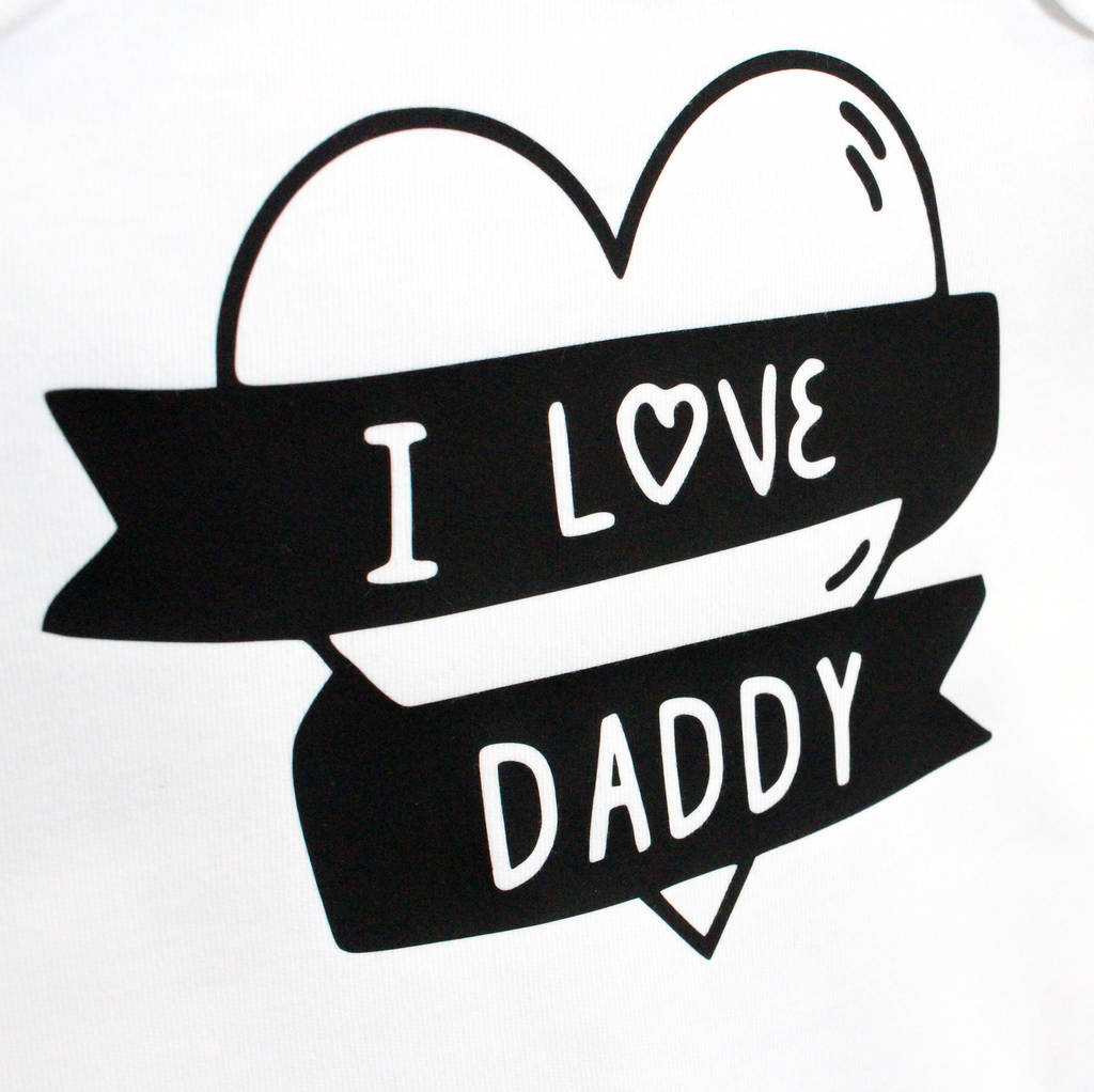 I Love Daddy Children S T Shirt By Precious Little Plum