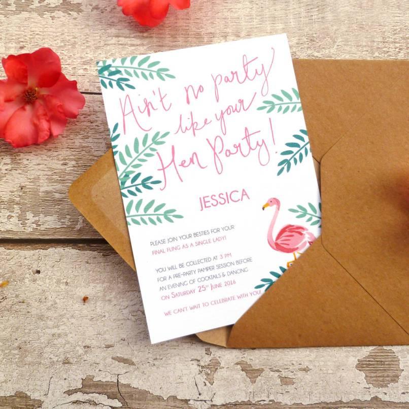 Hen Party Invite For The Bride | Invitationjpg.com