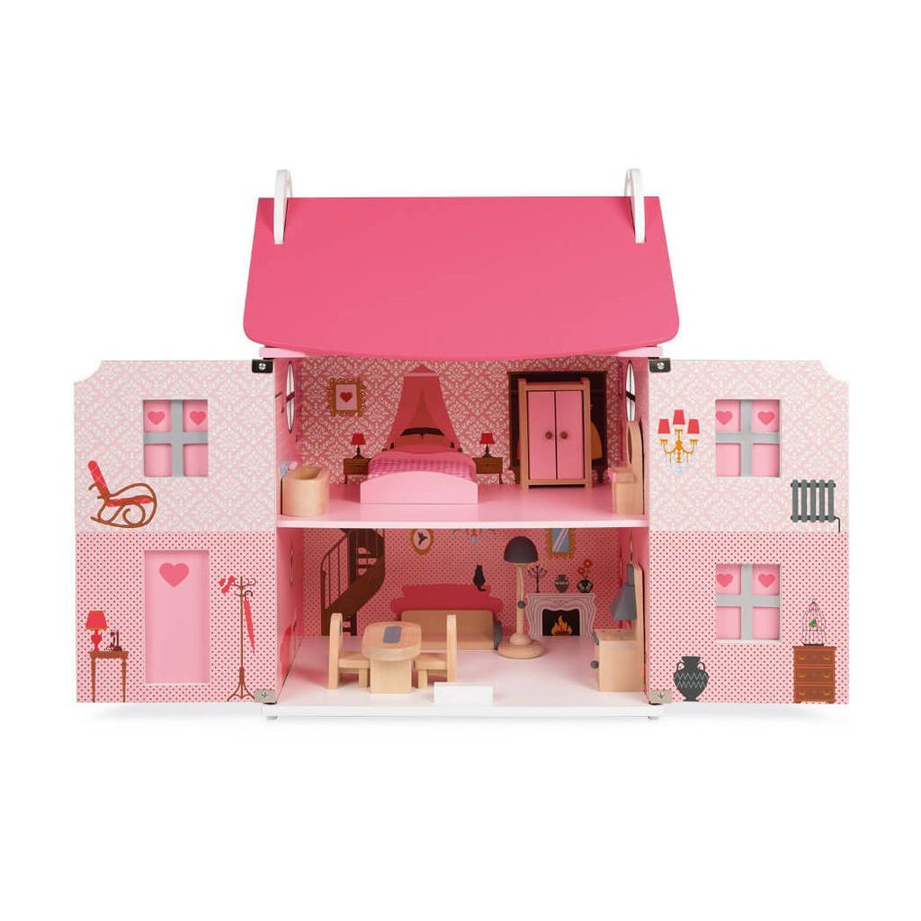 Pink Wooden Dolls House By Oskar Amp Catie