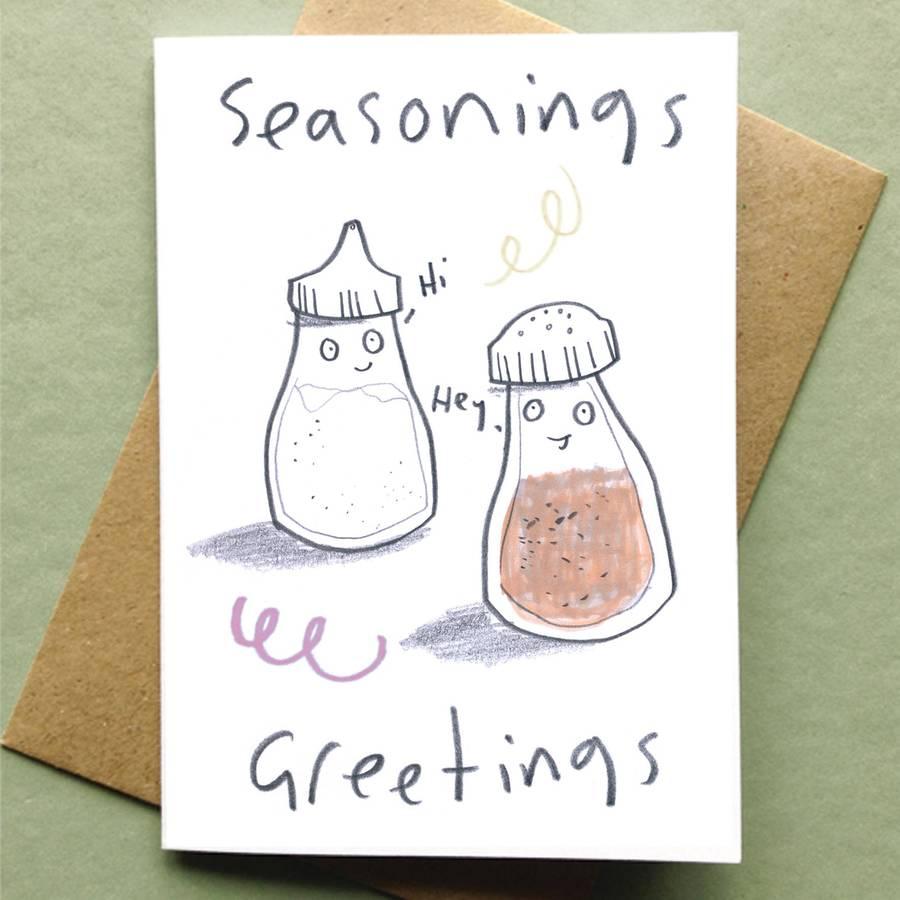 Christmas Card Packs Food Pun Fun By Jo Clark Design