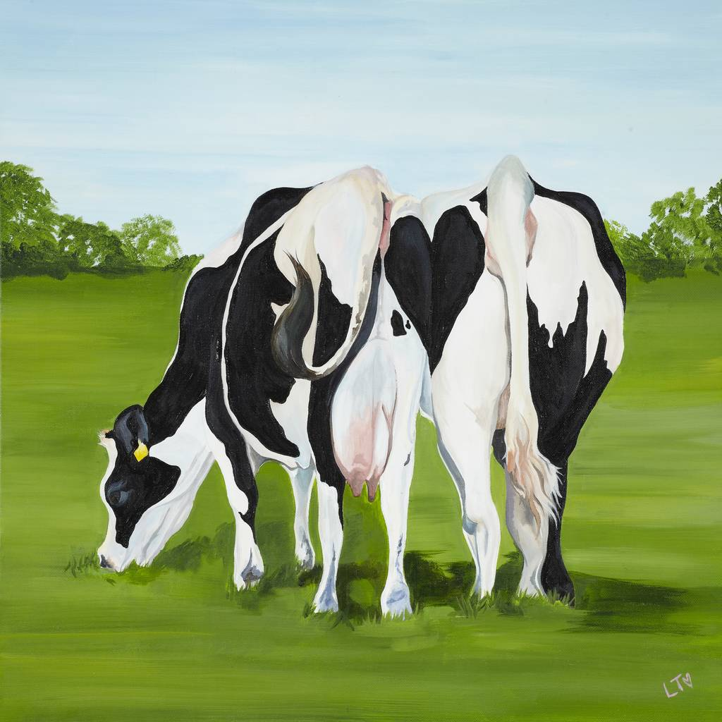 Wedding Anniversary Cow Art Print By Laurens Cows