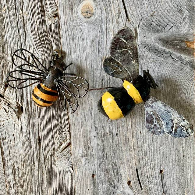 original bumblebee garden wall sculpture