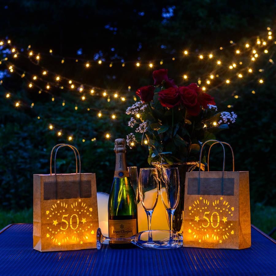 50th Birthday Party Decoration Lantern Bag By Baloolah Bunting Notonthehighstreet Com