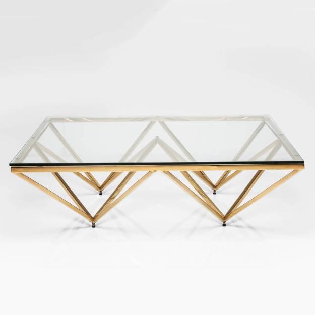 art deco brass square glass coffee tablei love retro