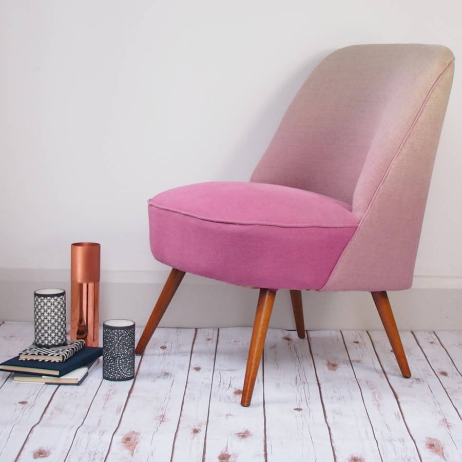 The New Vintage Style Slipper Chair In Blossom Linen By