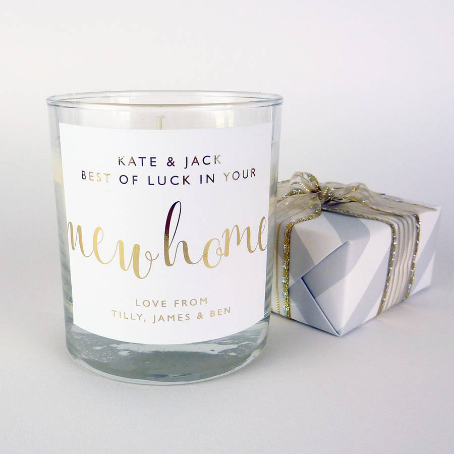 New Home Personalised Candle By Little Cherub Design