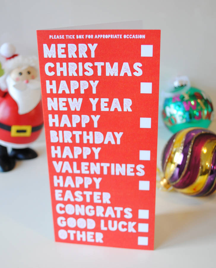 Funny Christmas Cards Six Pack By Wedfest