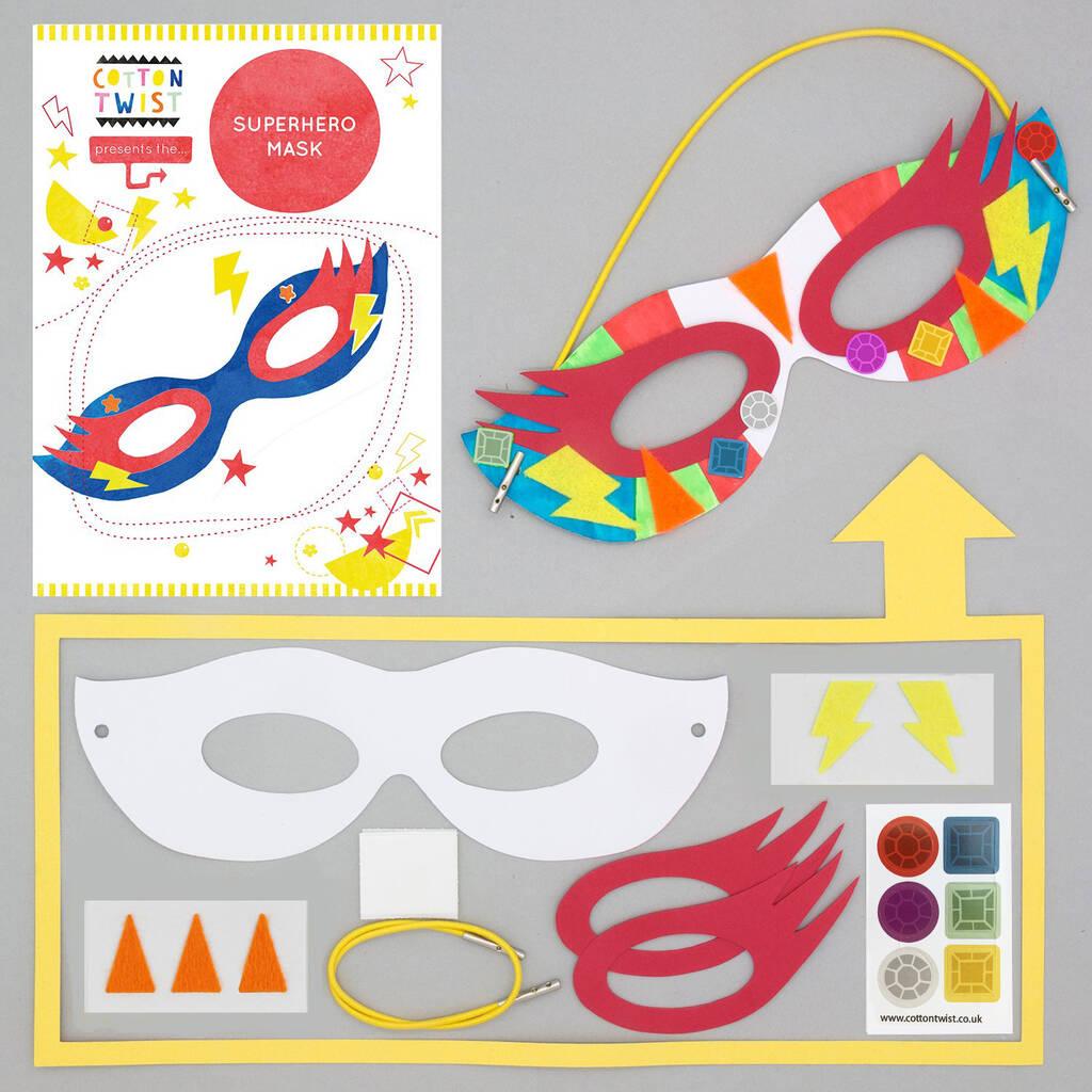 Make Your Own Superhero Mask Kit By Cotton Twist