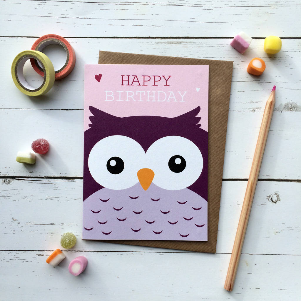 Cute Owl Birthday Card By Aliroo Notonthehighstreet Com