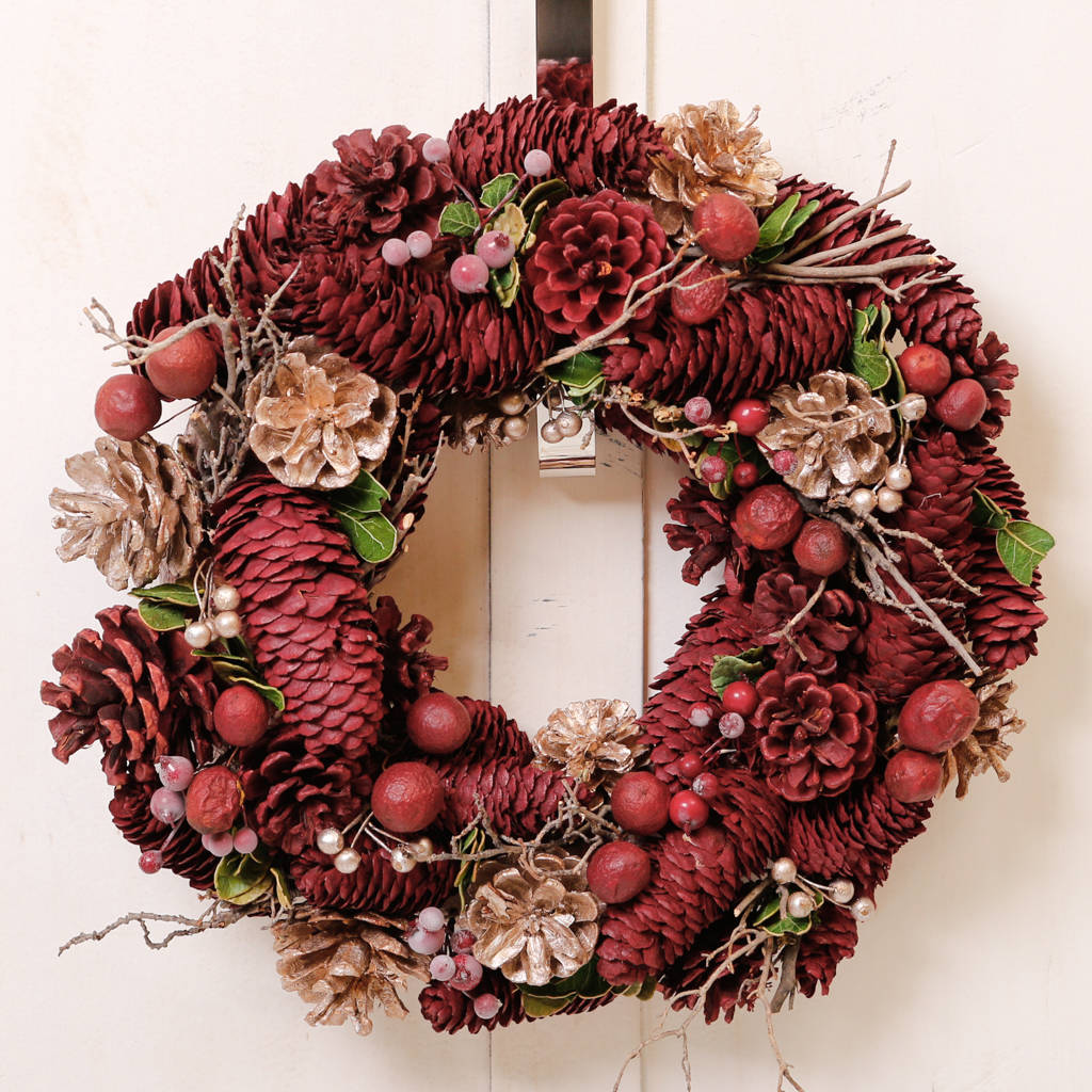 Luxury Festive Fruit And Berries Christmas Wreath By Dibor