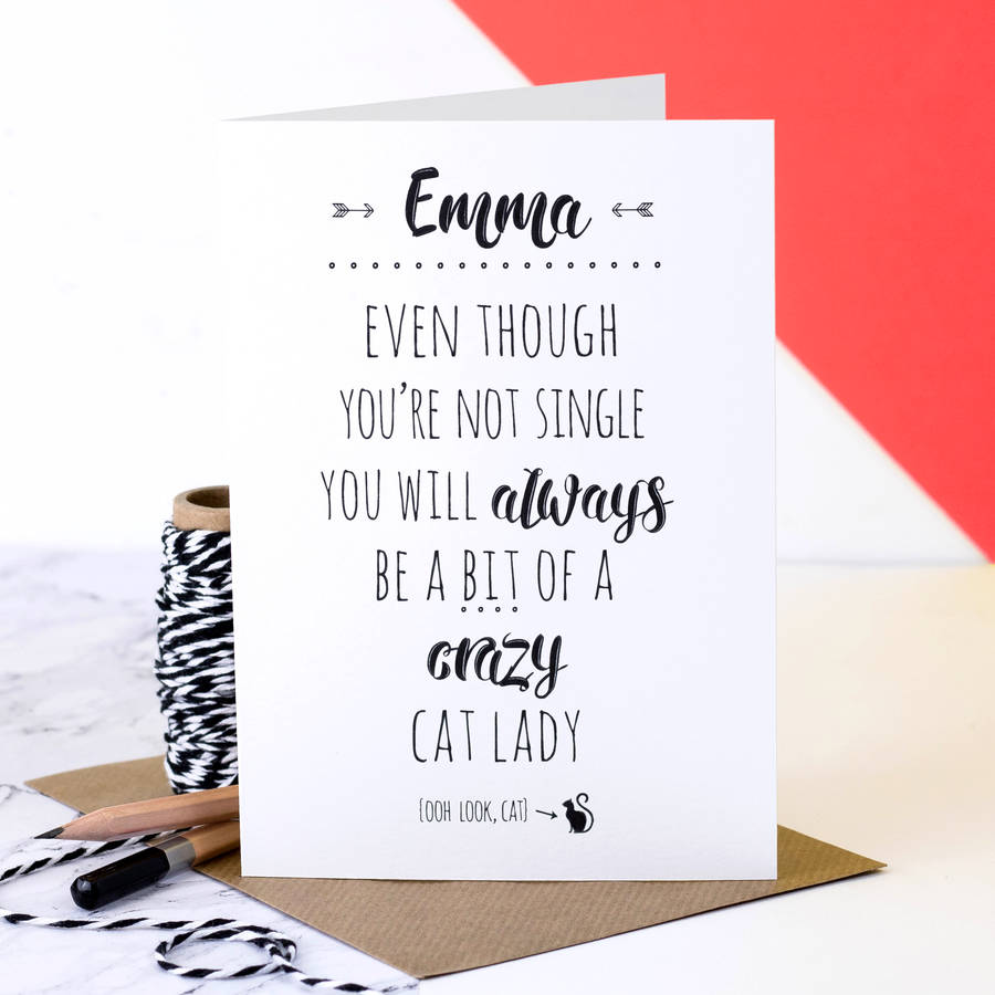 Birthday Card Crazy Cat Lady By Coulson Macleod Notonthehighstreet Com