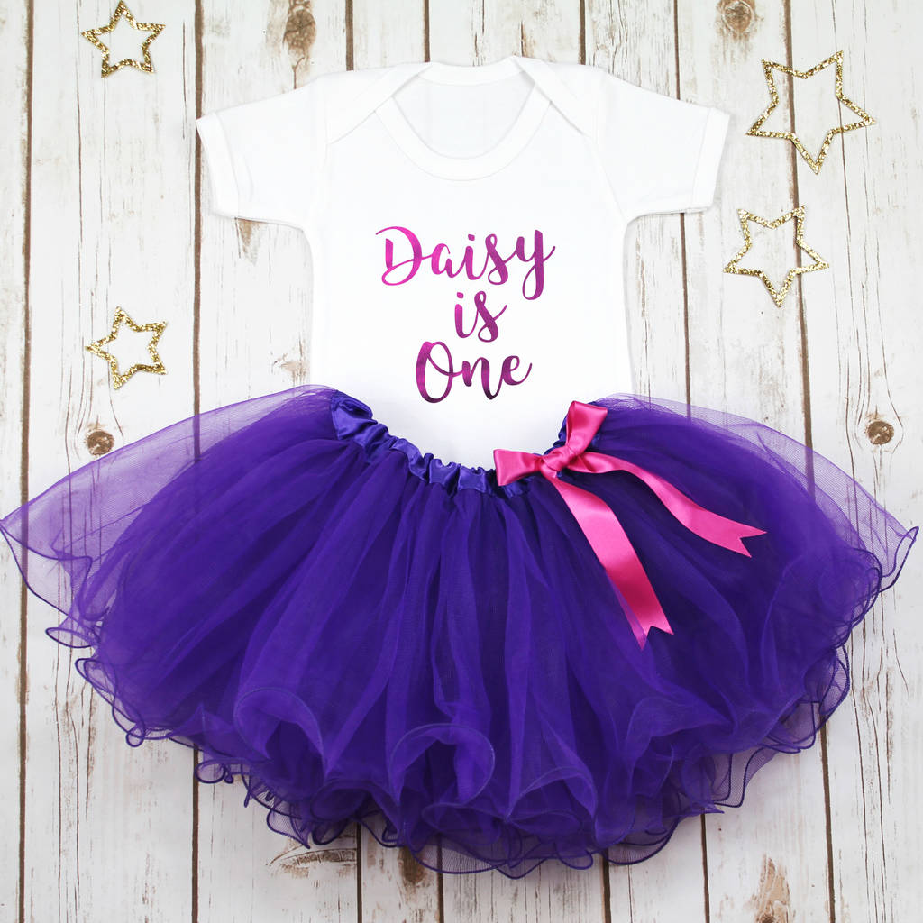 Personalised First Birthday Baby Girl S Tutu Outfit By Betty Bramble Notonthehighstreet Com