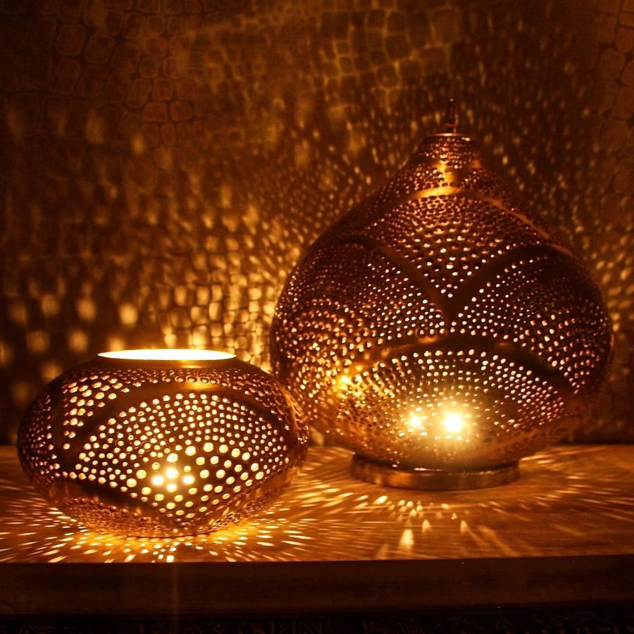 Copper Oval Marrakech Style Lantern By London Garden