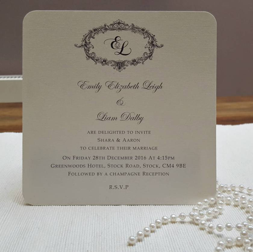 Victorian Personalised Wedding Invitations