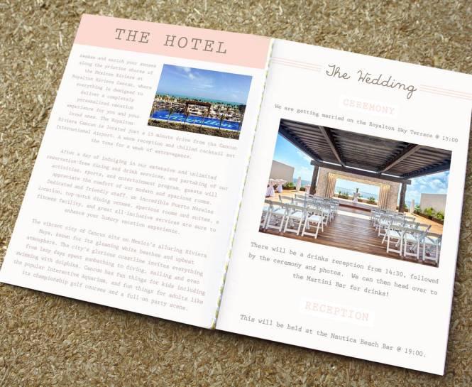 Blush Passport Wedding Invitation Travel Booklet