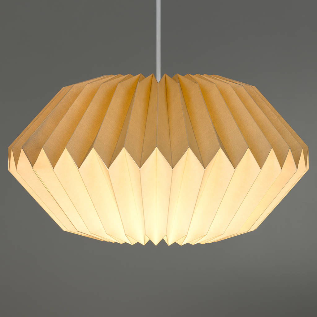 Paper Origami Lamp Shade In Dove Grey By The Best Room