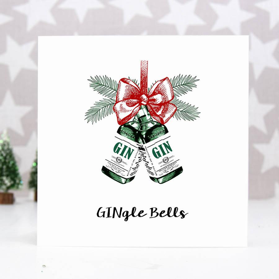 Gingle Bells Gin Christmas Card By Of Life Amp Lemons