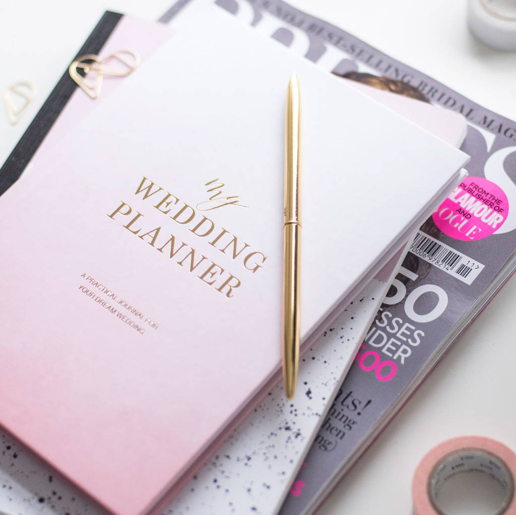 Luxury Engagement T Wedding Planner Book Ombre By