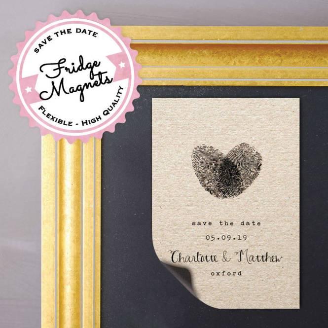 Philadelphia Wedding Stationery Designer Rustic Save The Date Magnet