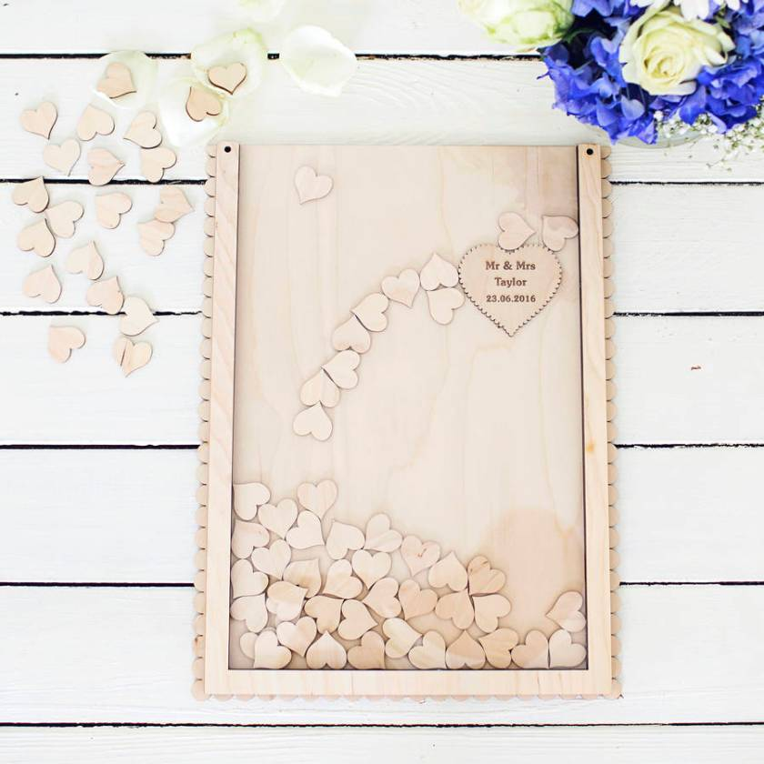 Personalised Guestbook Dropbox Rustic Autumn Wedding Styling