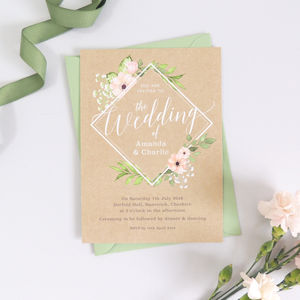 Blush Fl Botanical Eloise Wedding Invitations