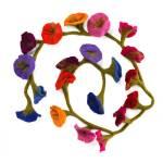 Handcrafted Felt Flower Garlands By Paper High Notonthehighstreet Com