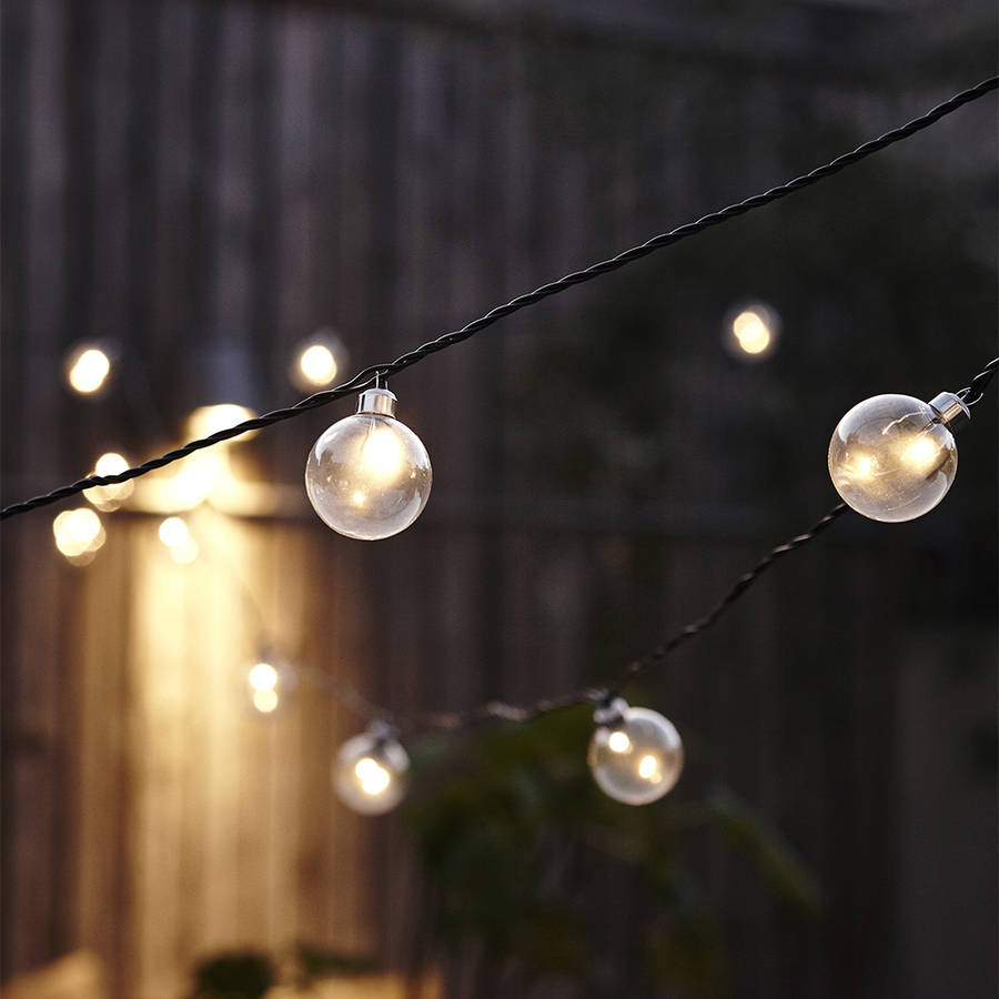 Clear Round Bulb String Lights