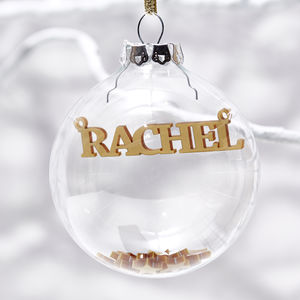 Personalised Silver Baby 39 S First Christmas Decoration View All Decorations