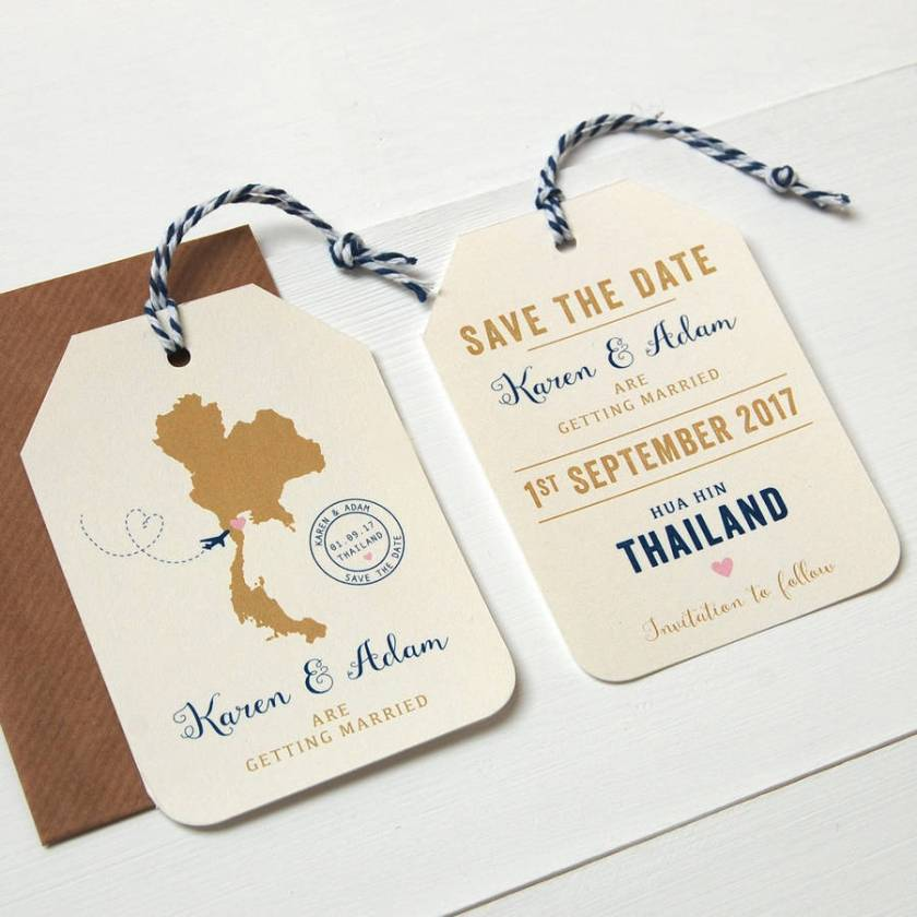 Save The Date Card Wedding Abroadwedding Invitation Sle