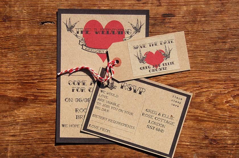 Vine Tatoo Wedding Stationery