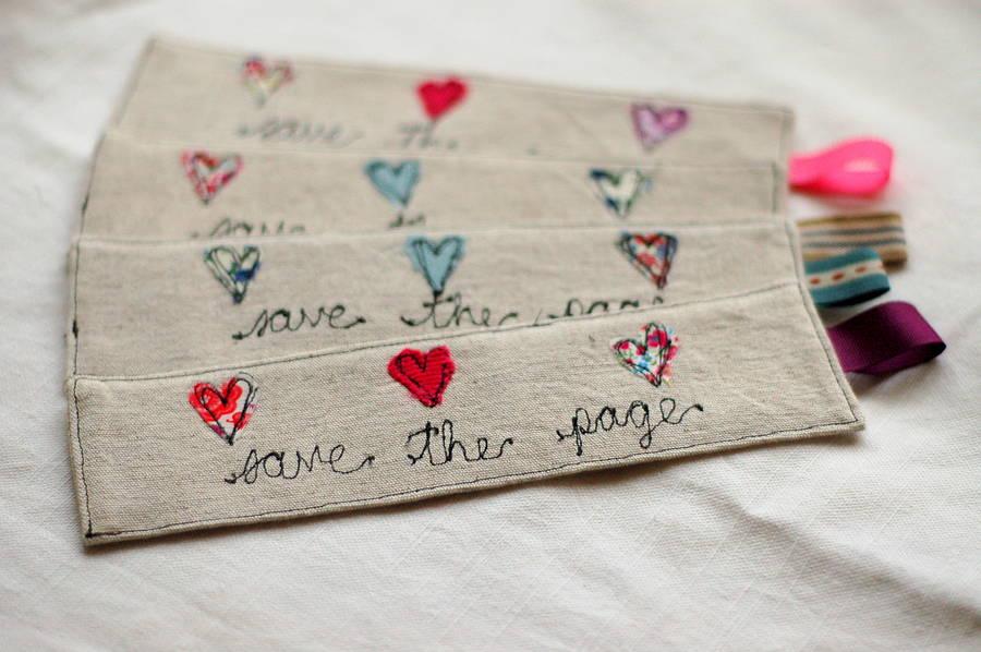 Handmade Linen And Liberty Print Bookmark By Handmade At