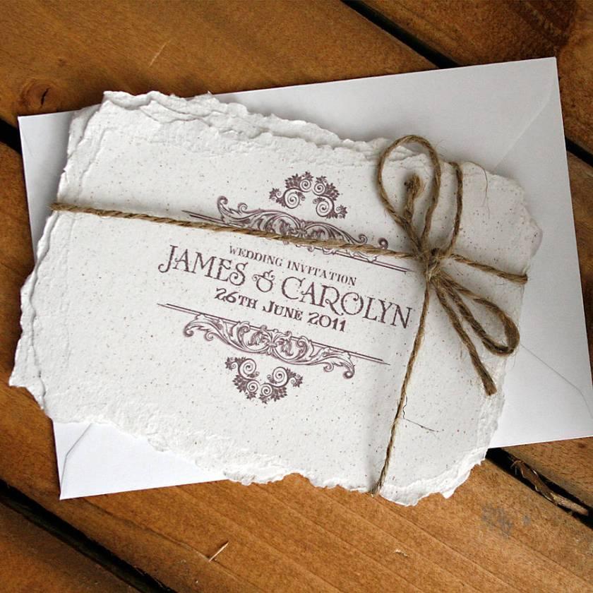 Vine Style Wedding Invitation Bundle With Envelope
