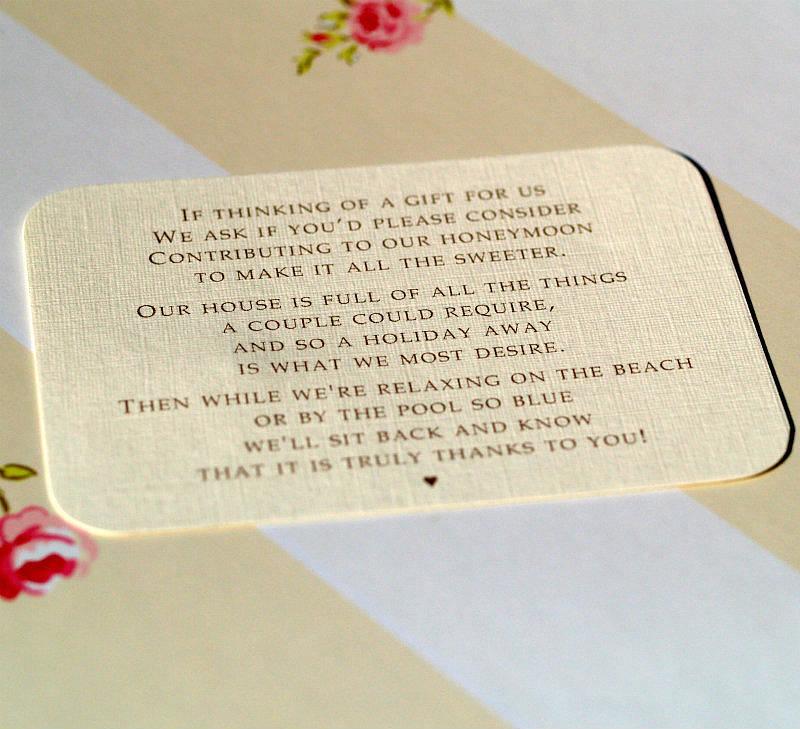 Pea Feather Wedding Invitations Insert