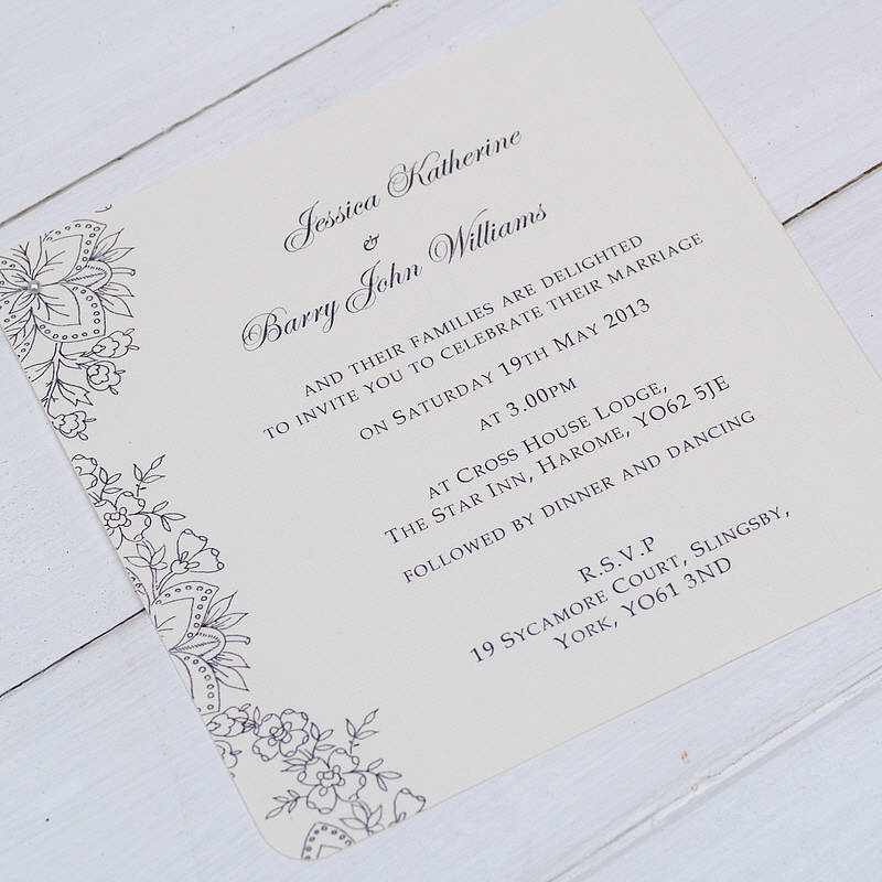 Vine Lace Wedding Invitations