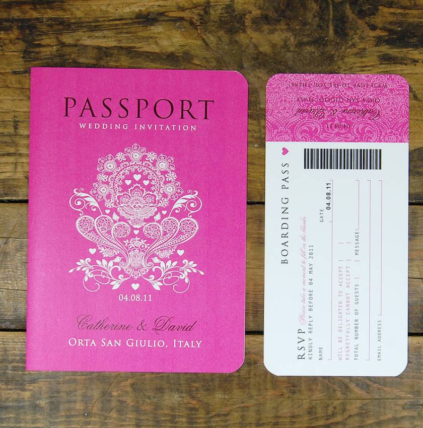 Booklet Travel Wedding Invitation Pport To Love With Boarding P Rsvp Card