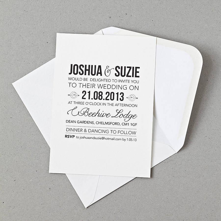 Personalised Invitation Cards
