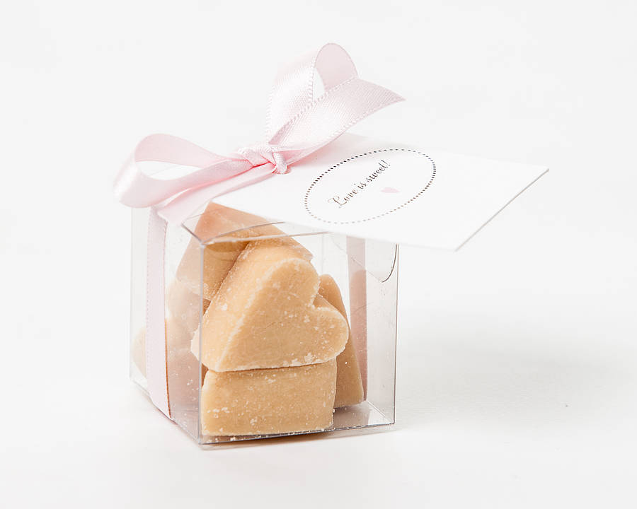 Scottish Tablet Heart Wedding Favour By Phil Rao Studio