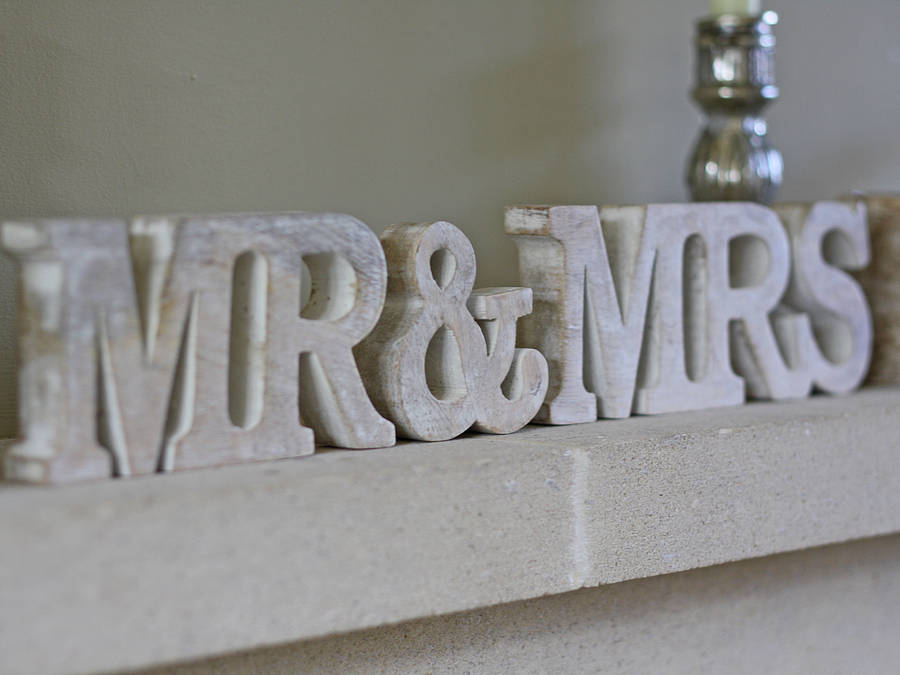 'mr And Mrs' Sign By The Wedding Of My Dreams