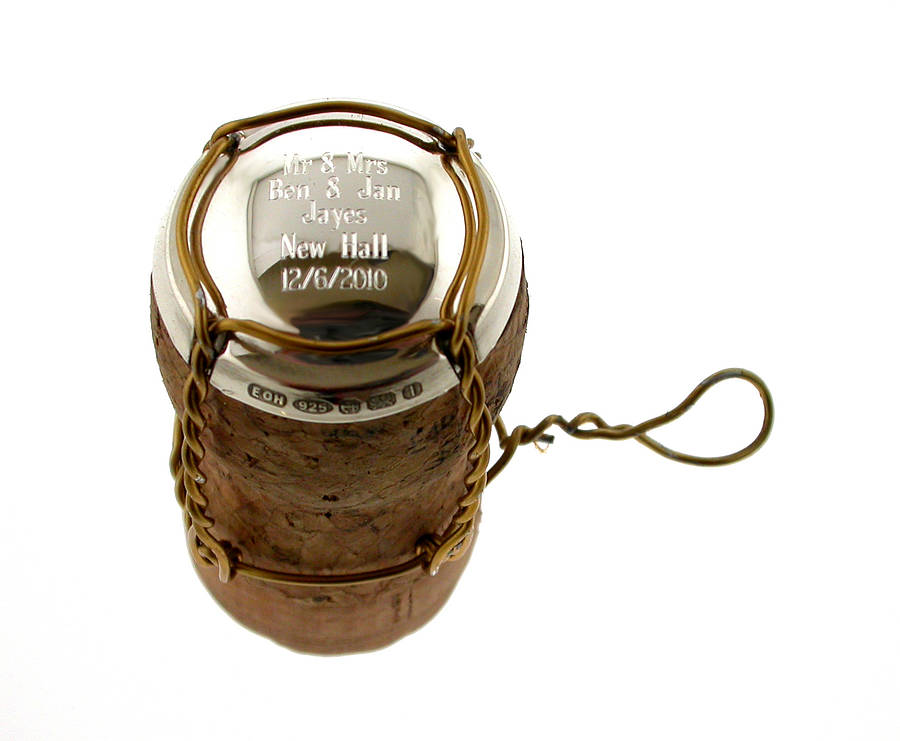 Personalised Silver Champagne Cork Cap By David-louis