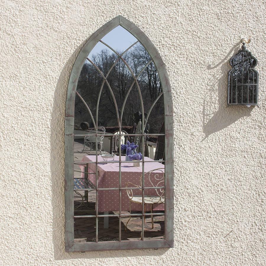 Large Full Arch Architectural Window Mirror Garden Mirrors Tagr