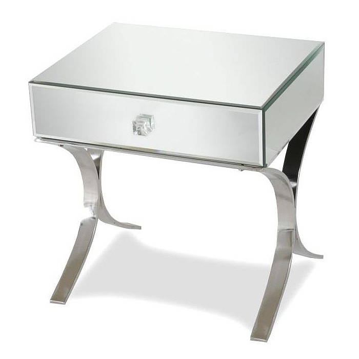 Iconic Mirrored Bedside Table By Out There Interiors