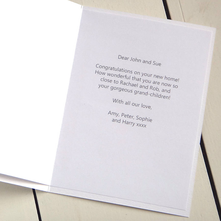 Personalised New Home Card By Milly And Pip