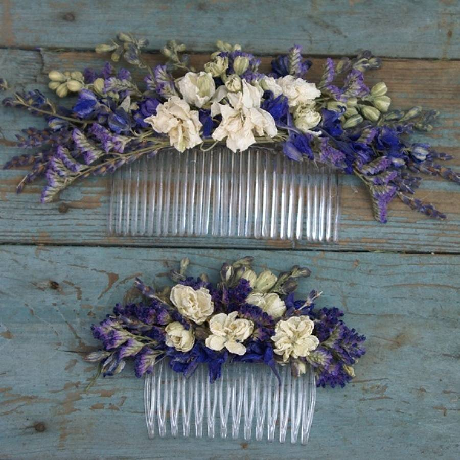 Provence Dried Flower Hair Comb By The Artisan Dried