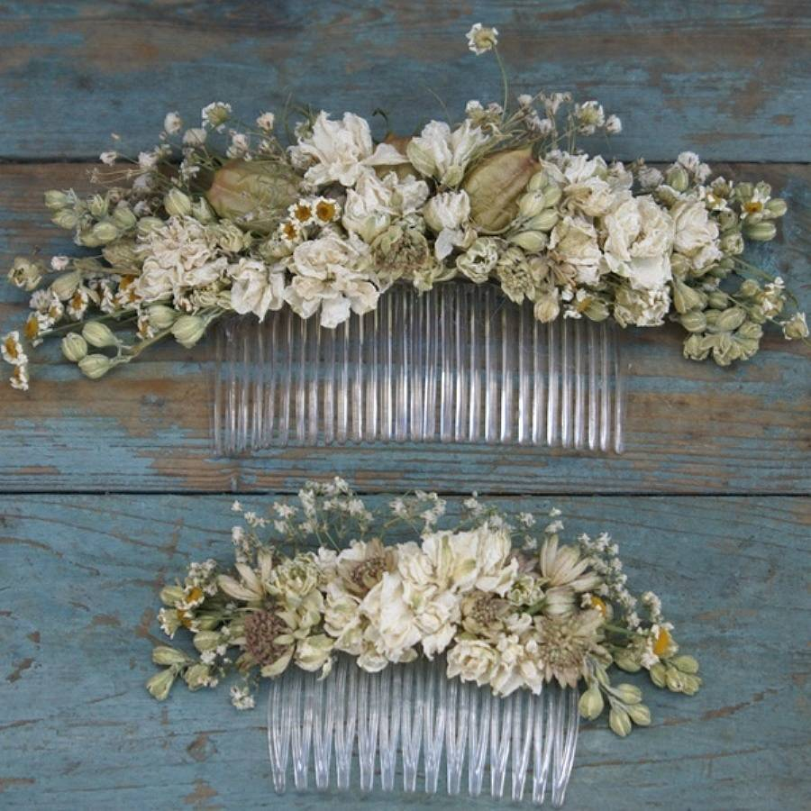 Wild Meadow Dried Flower Hair Comb By The Artisan Dried