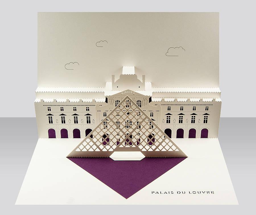 Louvre Paris Pop Up Card By Paper Tango