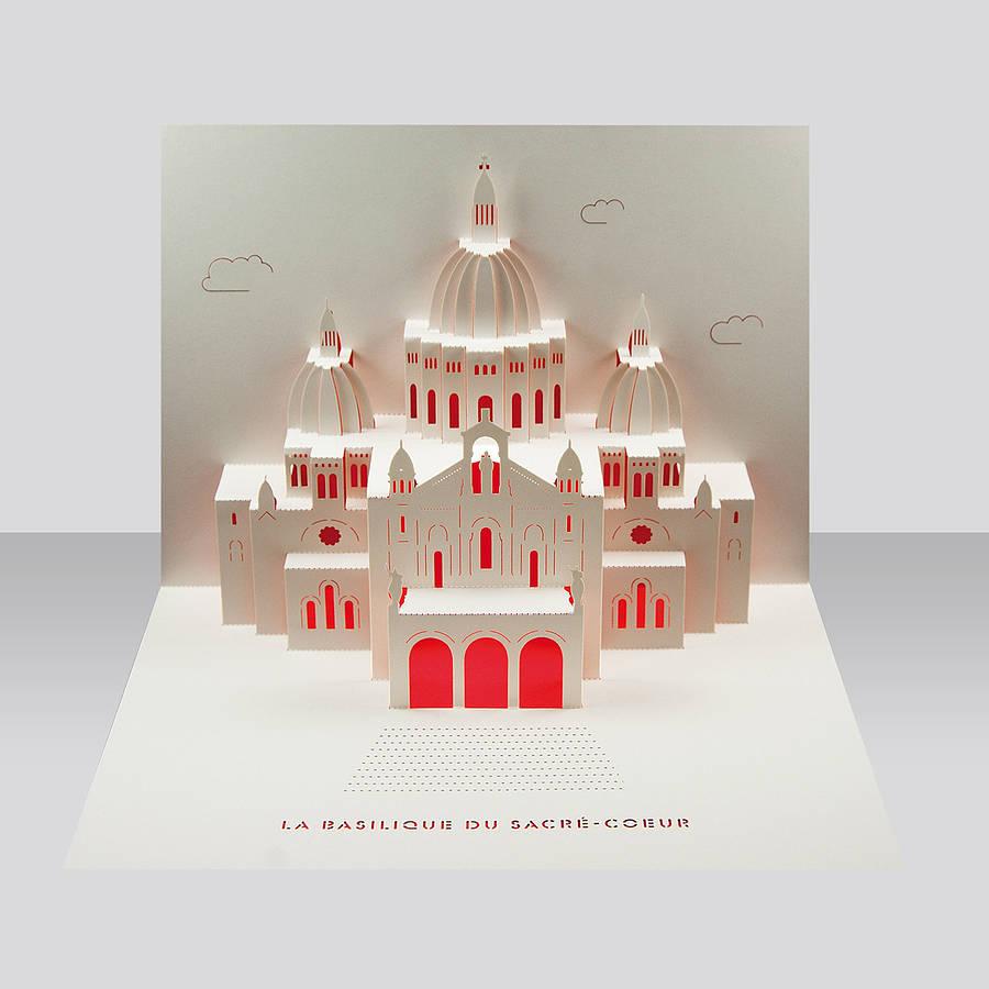 Sacre Coeur Paris Pop Up Card By Paper Tango