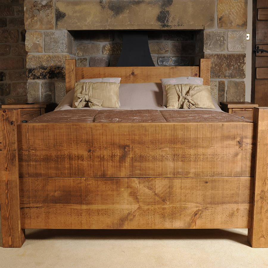 Solid Wood Bed By Hampf