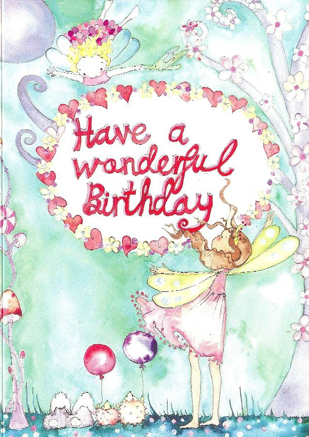Have A Wonderful Birthday Card By Caragh Buxton