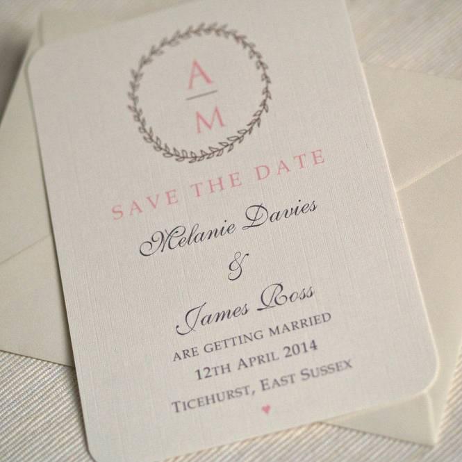 Save The Date Wedding Invitation Card Stock Photo 34983011