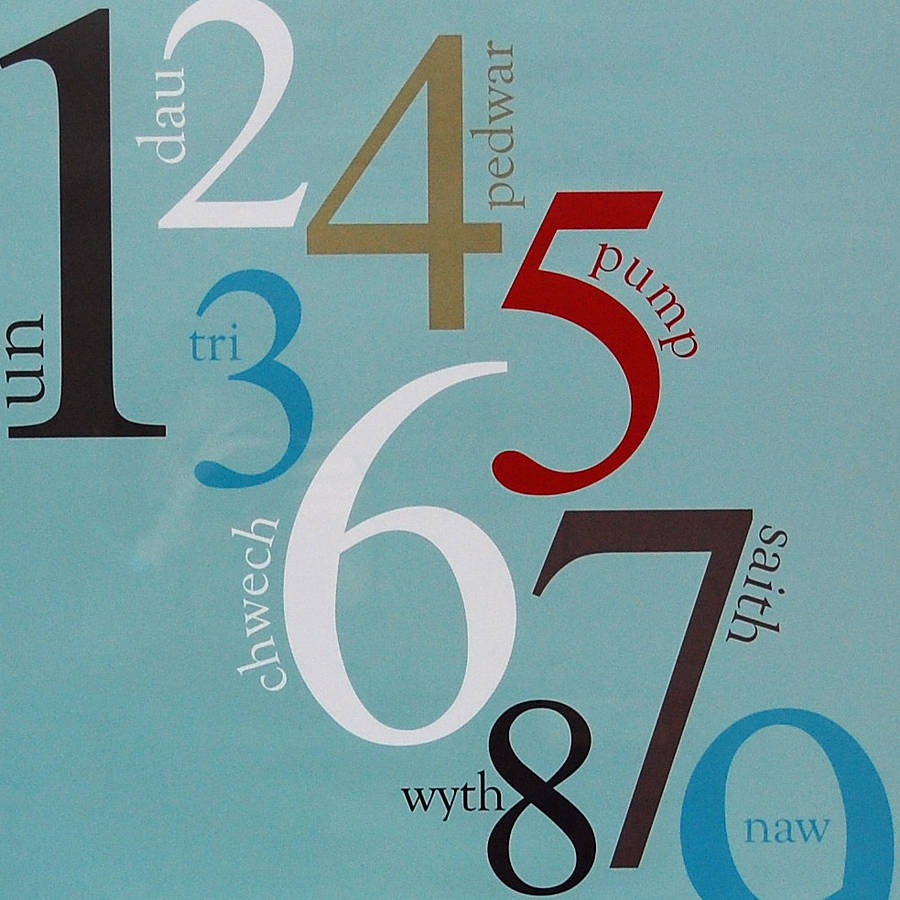 Welsh Numbers Poster By Adra